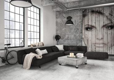 Wohnzimmer im Industrial-Stil