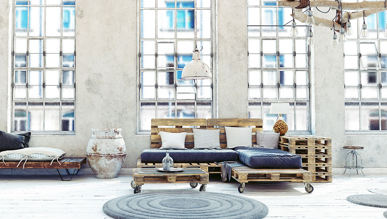 Wohnzimmer Ideen Paletten Möbel